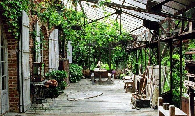 French Country House Vertical Home Garden