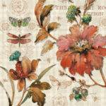 French Country Lisa Audit Decorative Floral Flower Print