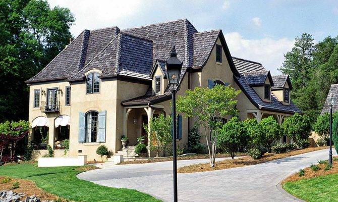French Country Manor Architectural Designs