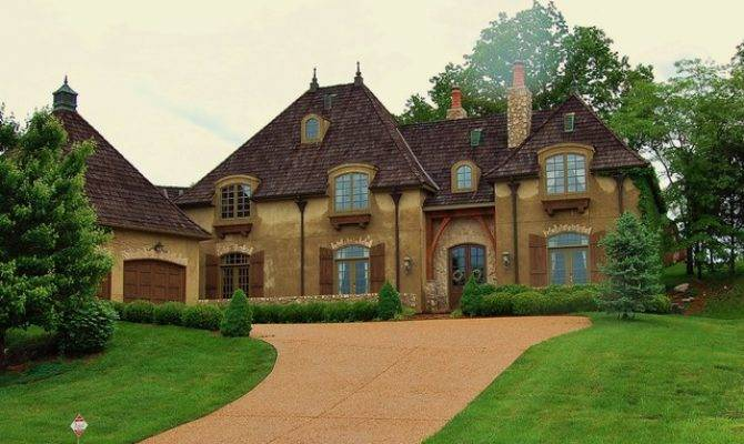 French Country Manor House Traditional Exterior