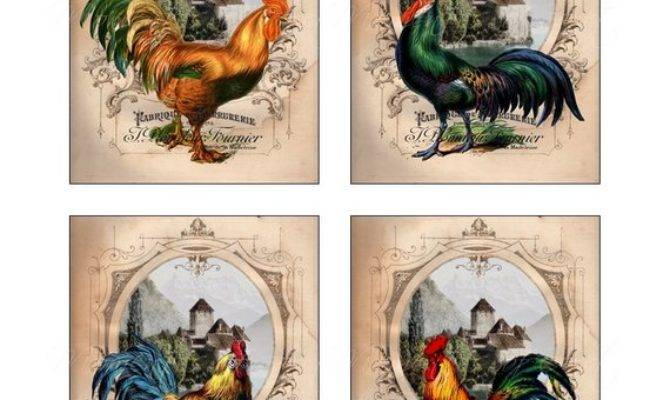 French Country Roosters Collection Set