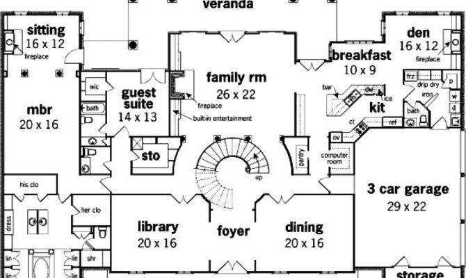 French House Blueprint Mansion Floor