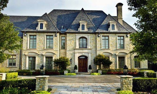 French Roof Lines Contemporary Luxury Mansion Style