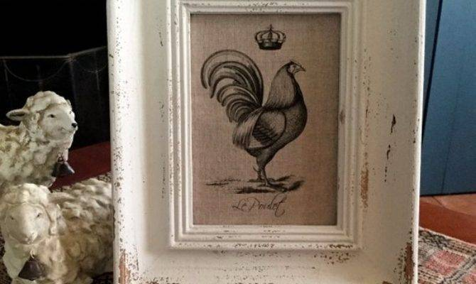 French Rooster Print Country Decor