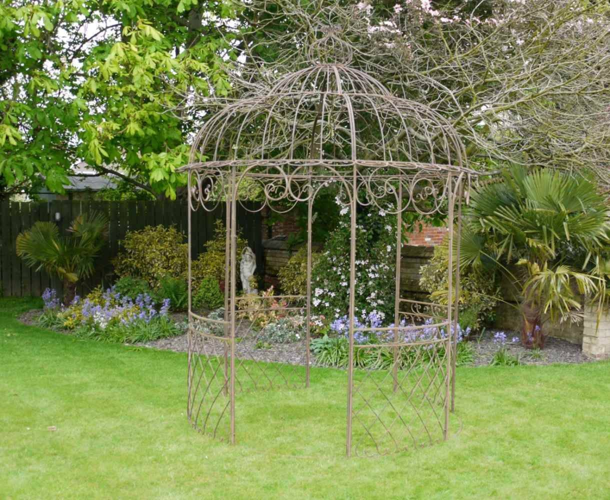 French Shabby Chic Brown Wrought Iron Metal Garden Fancy