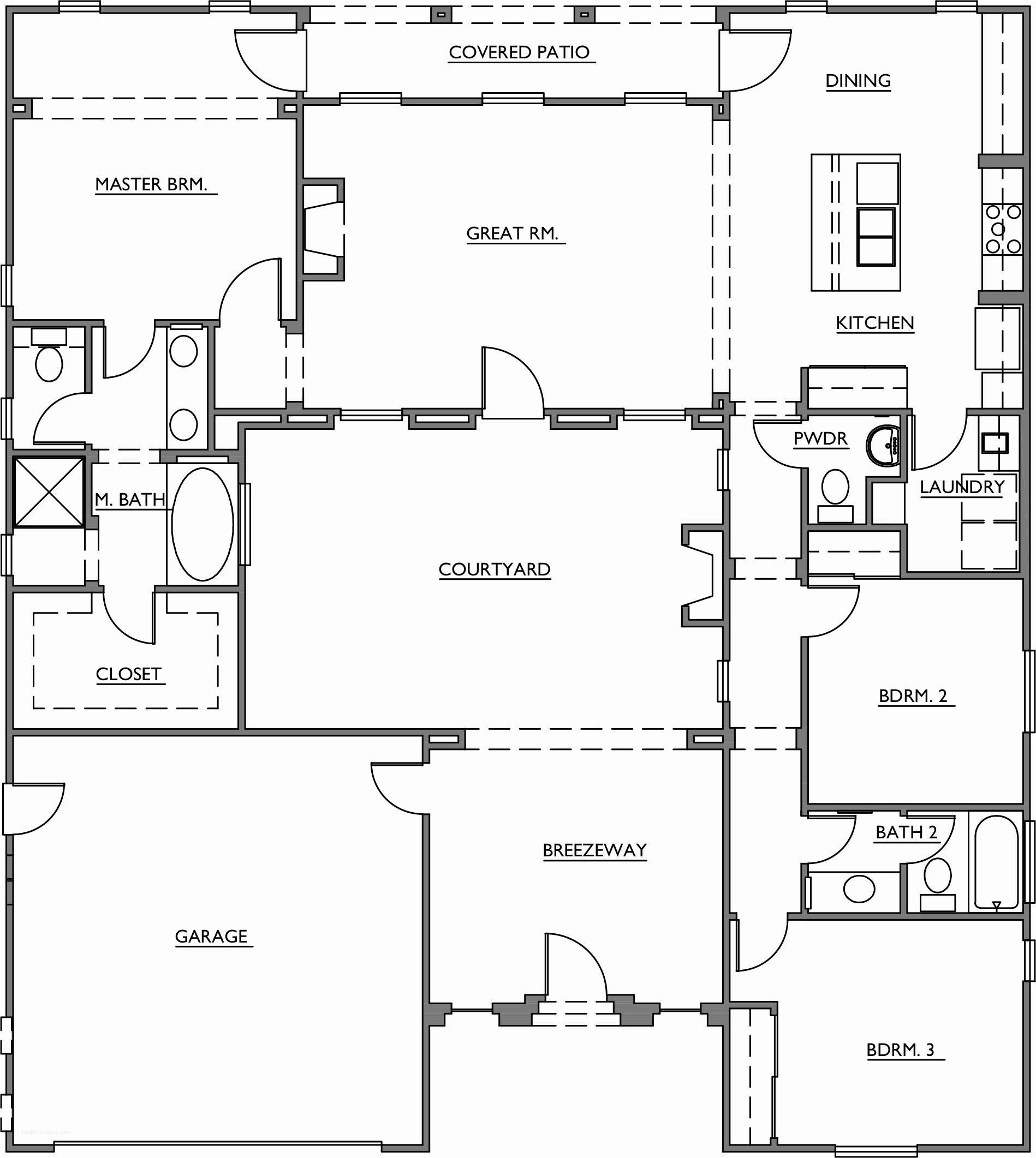 Fresh Courtyard Floor Plans House Ideas