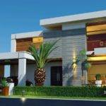 Front Elevation Beautiful Contemporary House