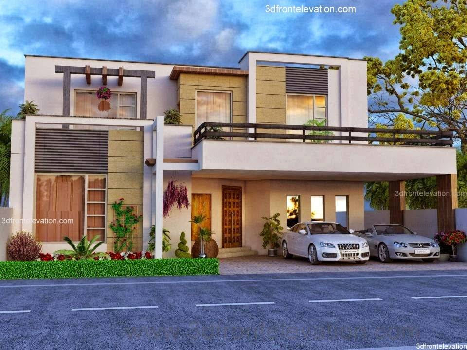 Front Elevation Beautiful House Modern Design