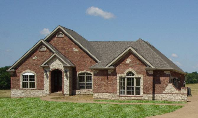 Front Elevation Brick Stone Accents Wightman