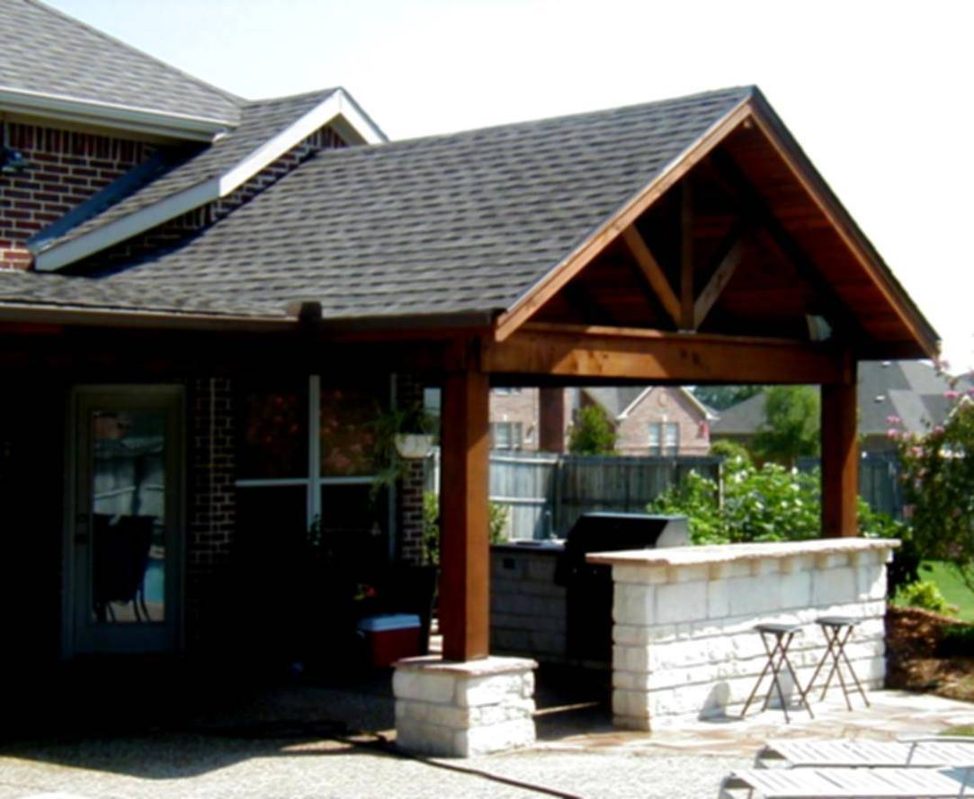 Front Porch Roof Design Amazing Open Gable