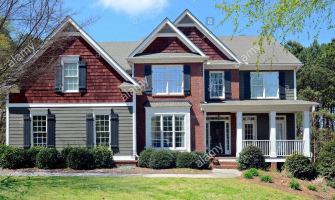 Front Two Story House Brick Siding