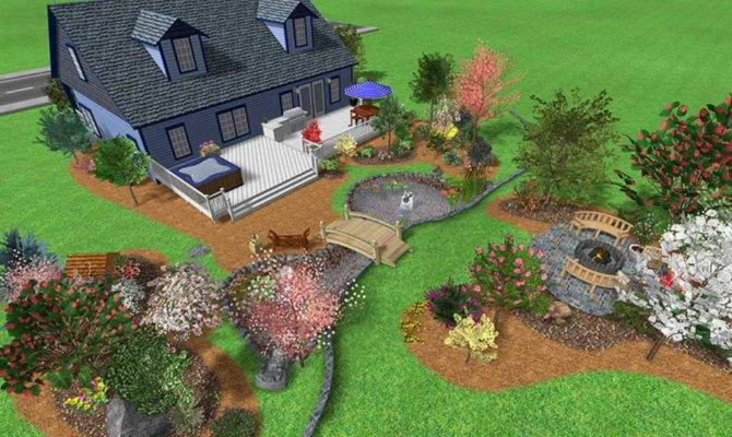 Front Yard Landscaping Design Plans Garden