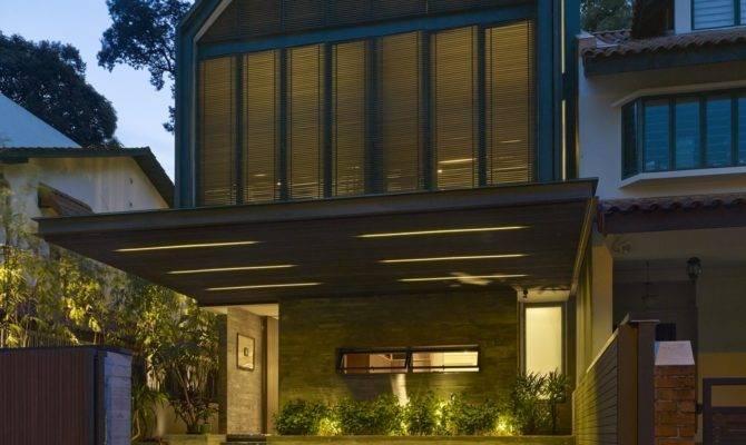 Gabled Roof Jazzes Minimalist House Singapore