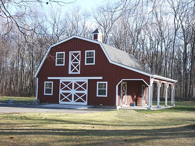 Gambrel Roof Barns