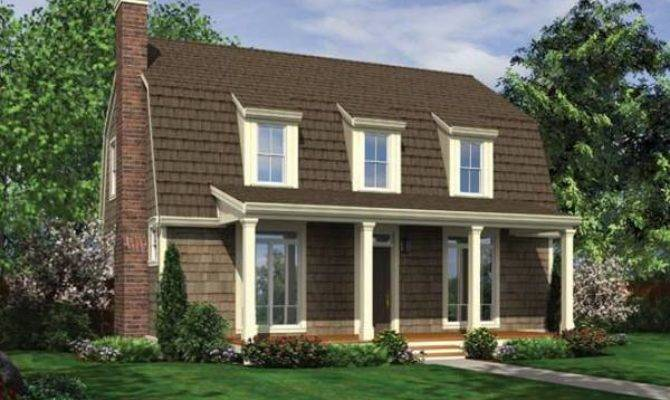 Gambrel Roof Dormers Front Porch House Plan Hunters