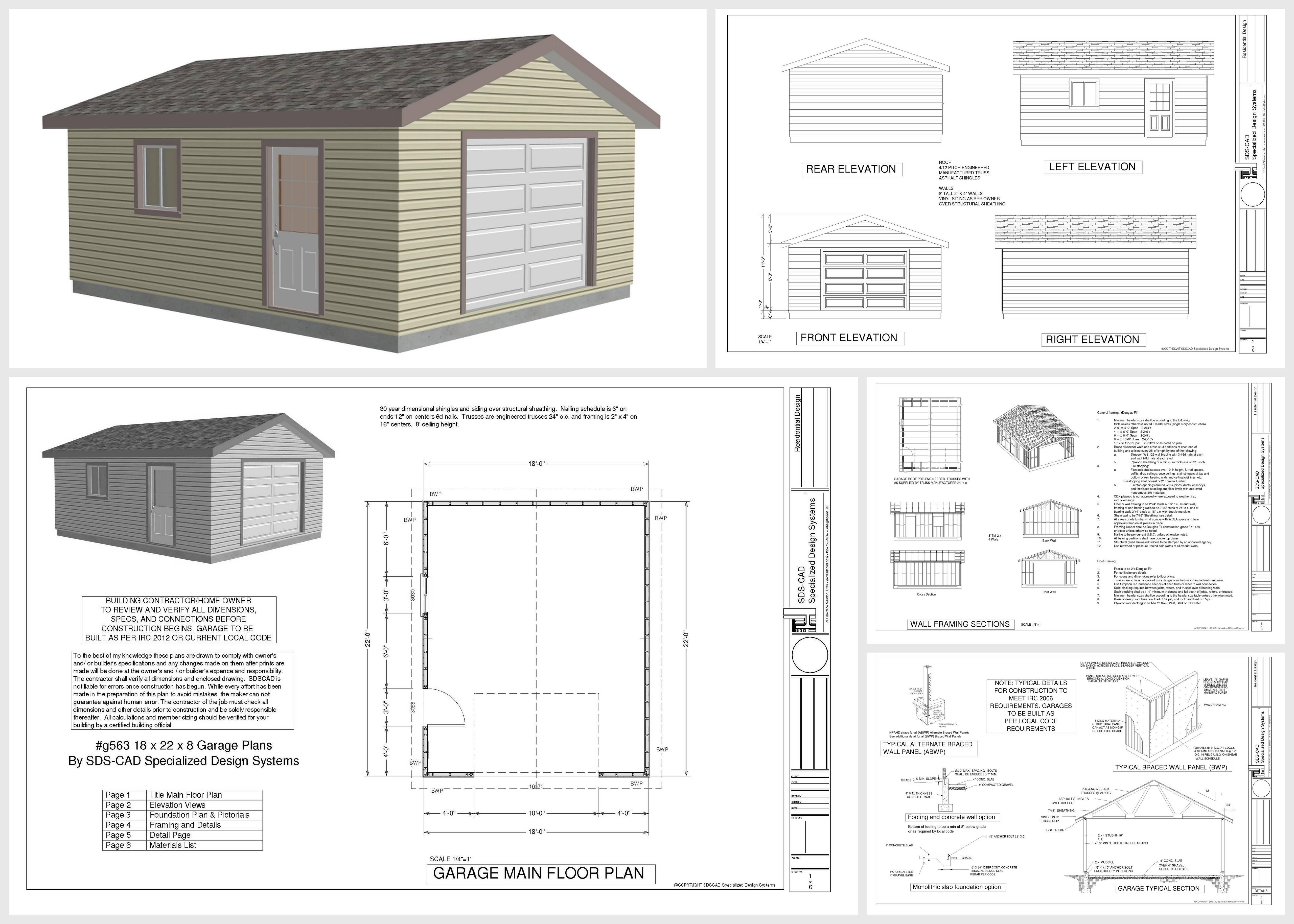 Gambrel Shed Plans Garage Nolaya