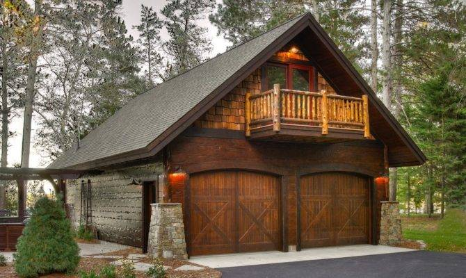 Garage Apartment Interior Rustic Trees Wooden Outdoor