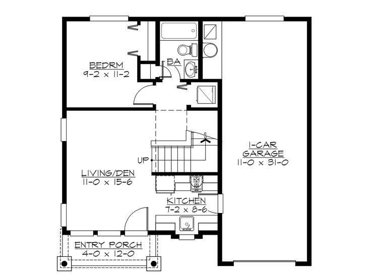Garage Apartment Plans Bedroom Plan