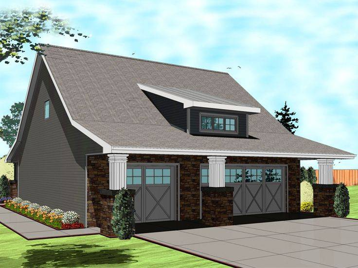 Garage Apartment Plans Craftsman Style Car Plan
