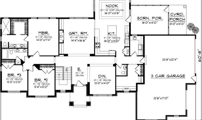 Garage Furthermore Single Story Bedroom House Floor Plans
