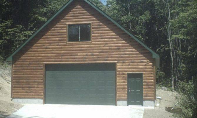 Garage Loft Log Siding Construction Gaylord