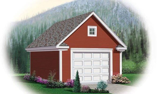 Garage Loft Plans Detached One Car Plan
