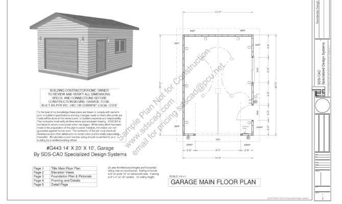 Garage Plans Blueprints Downloadable Construction Drawings Sds