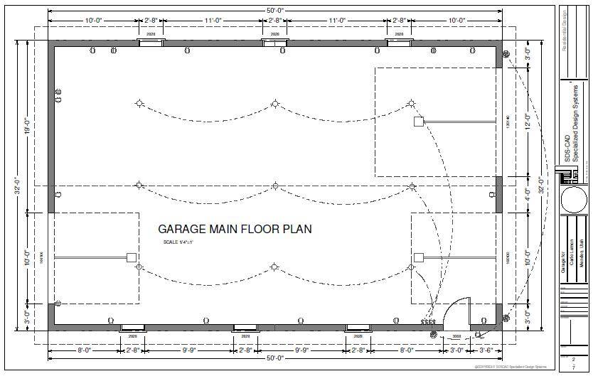 Garage Plans Blueprints Workshop Custom Car