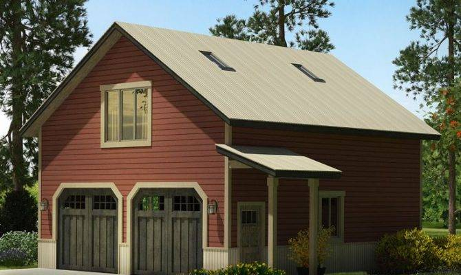Garage Plans Loft Country Style Car Plan