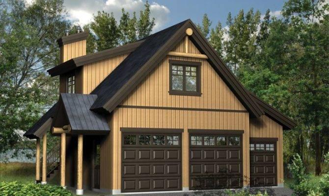 Garage Plans Loft Three Car Plan
