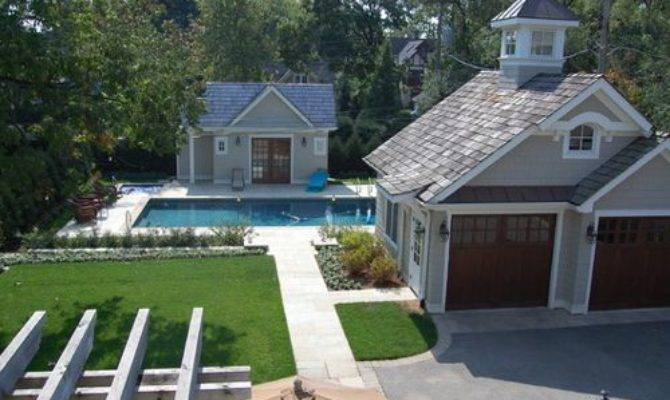 Garage Pool House Houzz