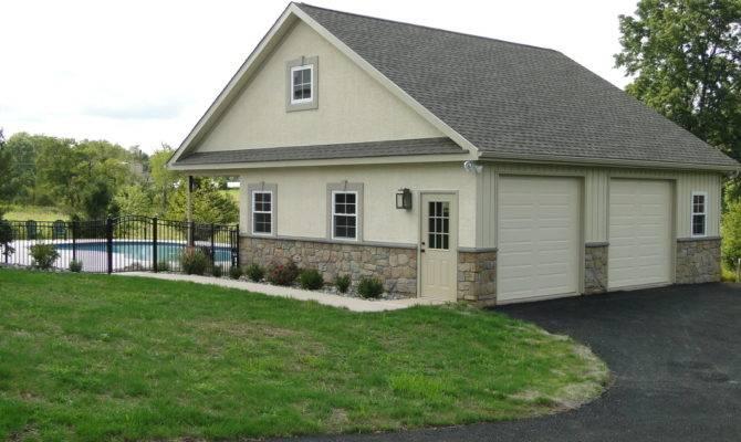 Garage Pool House Plan