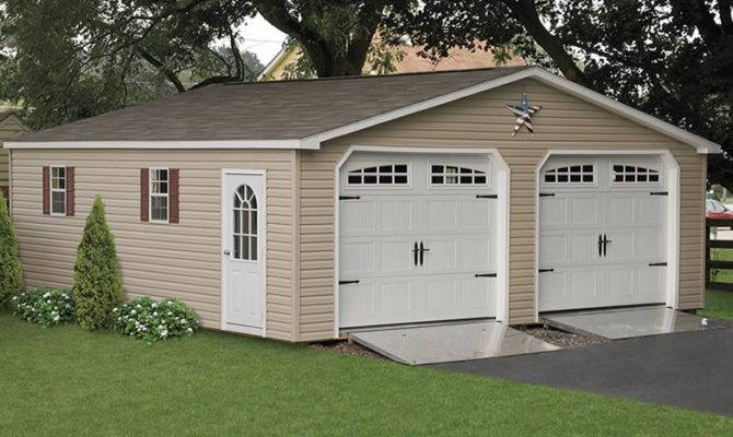 Garages Car Two Garage Wide Amish Backyard