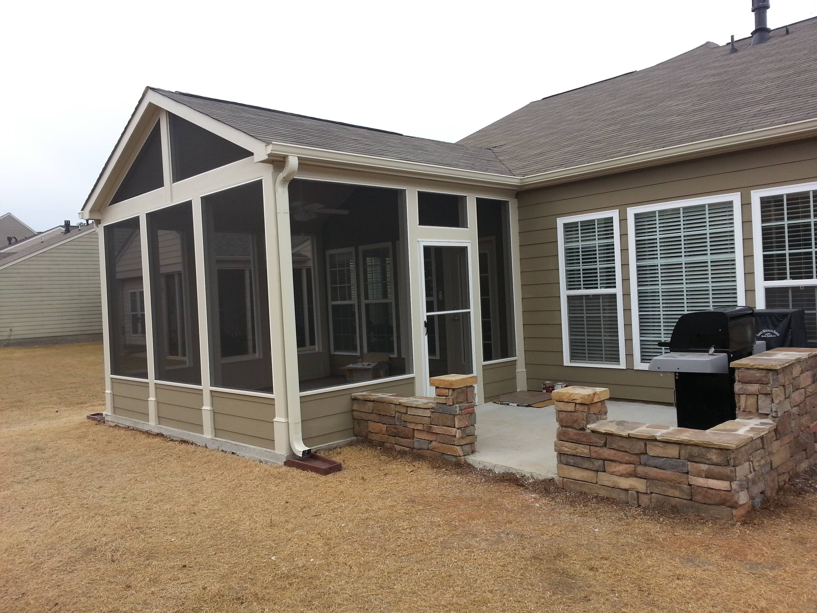 Garrett Gable Screened Room Grill Patio Sunsational Sunrooms