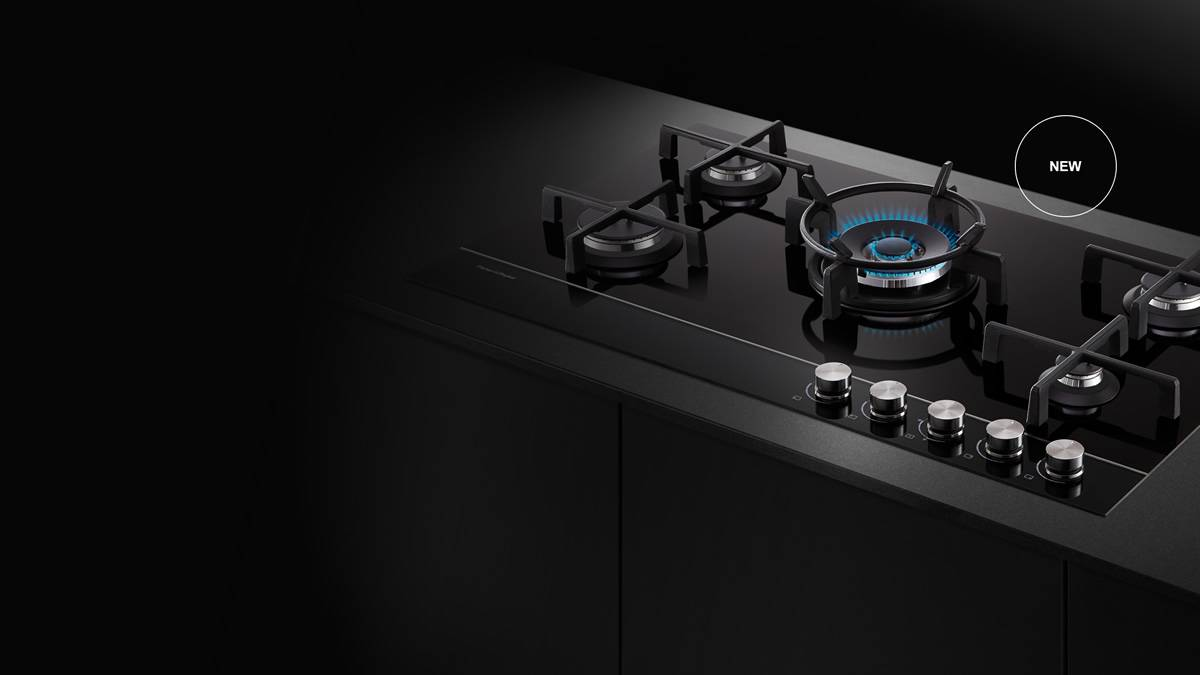 Gas Glass Cooktop Five Burner One Award