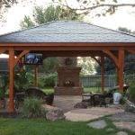 Gazebo Plans Fireplace Homesfeed