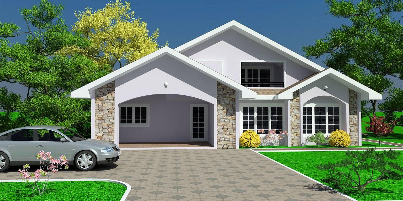 Ghana House Plans Chaley Plan