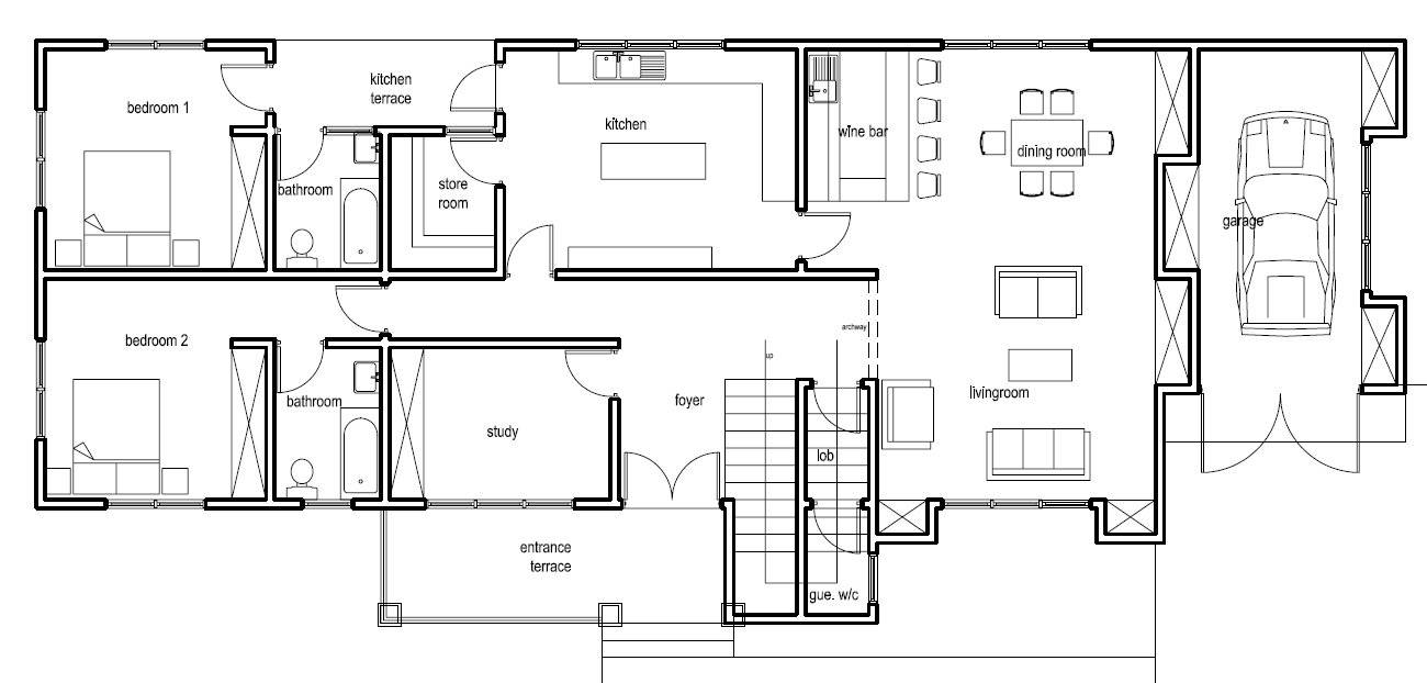 Ghana House Plans Nanaheema Ground Floor Plan