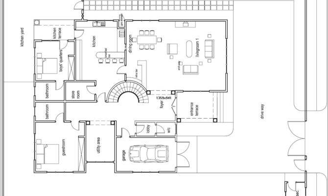 Ghana House Plans Odikro Plan