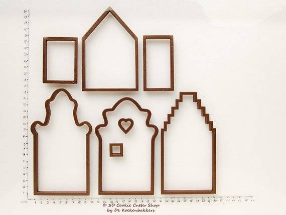 Gingerbread Canal Houses Cookie Cutter Set