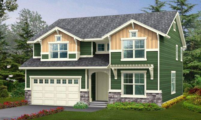 Glenallen Creek Craftsman Home Front Houseplansandmore