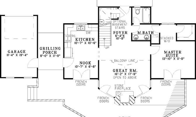 Glorious Vacation House Plan Architectural