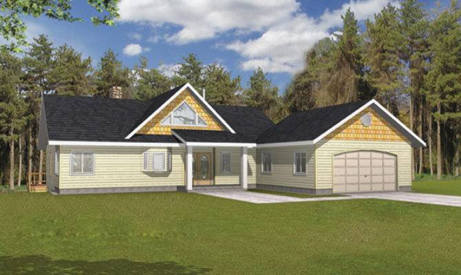 Golden Lake Rustic Frame Home Plan House