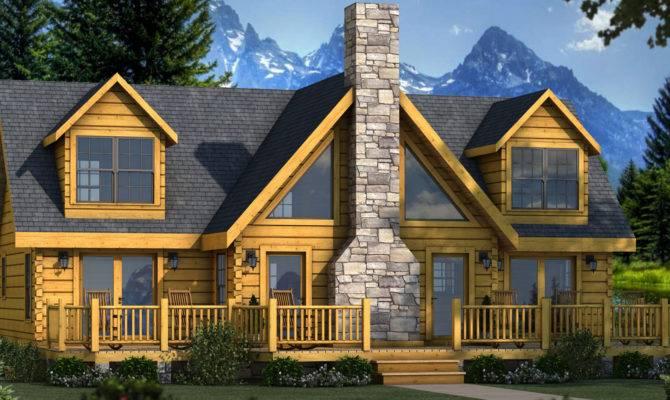 Gorgeous Contemporary Log Home Plans Mountain