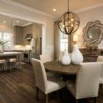 Gorgeous Open Concept Kitchen Dining Room Khaki Colored Perimeter