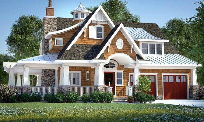 Gorgeous Shingle Style Home Plan Architectural