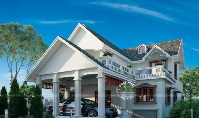 Graceful Looking Slope Roof Home Plan Kerala Design
