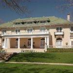 Grand Peach Colored Neoclassical House New