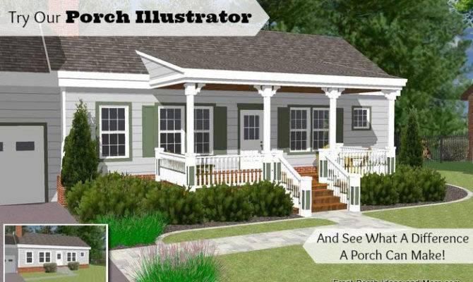 Great Front Porch Designs Illustrator Basic Ranch