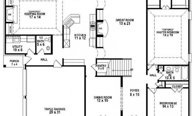 Great Looking Bedroom Bath House Plan